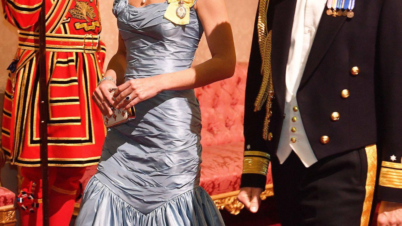 Kate Middleton, en una cena de gala en 2018. (Getty)