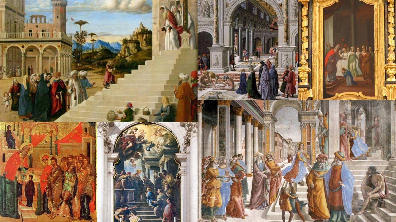 Representaciones artísticas de la 'Presentación de la Virgen. (C.C.)
