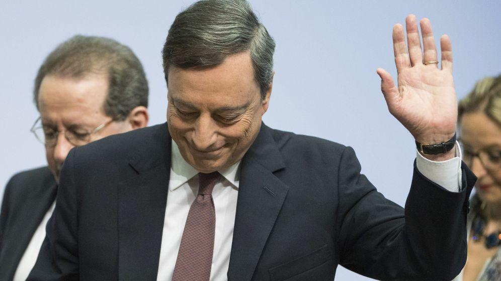 Foto: Rueda de prensa de Mario Draghi en Alemania. (EFE)