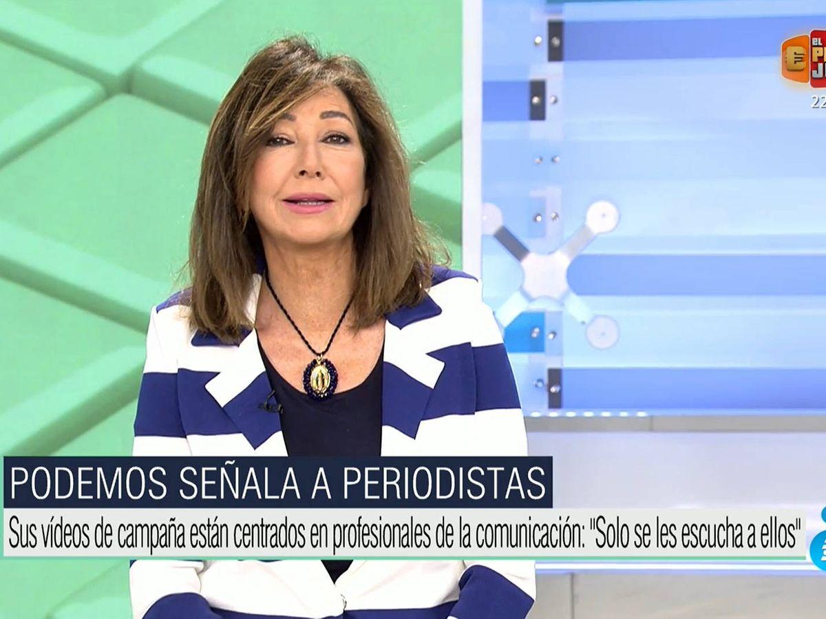 """Ana Rosa, en la diana de Podemos, denuncia su último video: """"Nos ponen en  riesgo"""""""