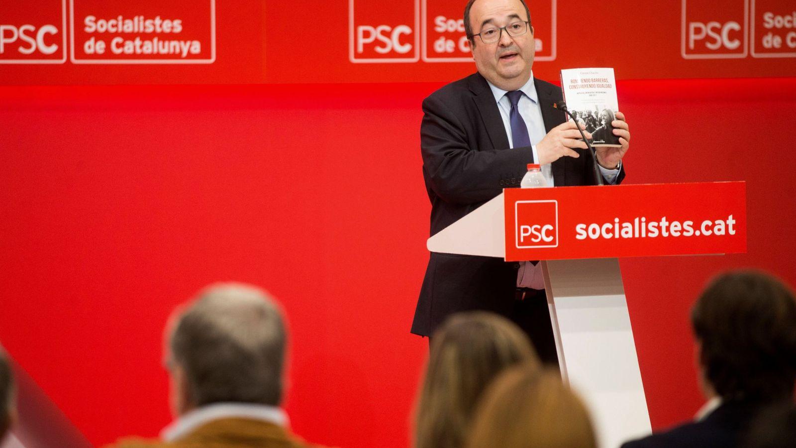 Foto: El primer secretario del PSC, Miquel Iceta, el pasado 8 de mayo en la sede del PSC en Barcelona. (EFE)