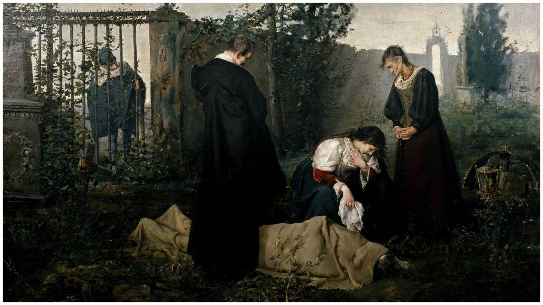 'Lope de Vega en el cementerio', de José Uría y Uría. (Museo Nacional del Prado)
