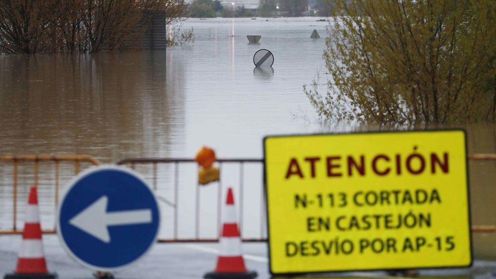 Foto: Inundaciones en Tudela. (EFE)