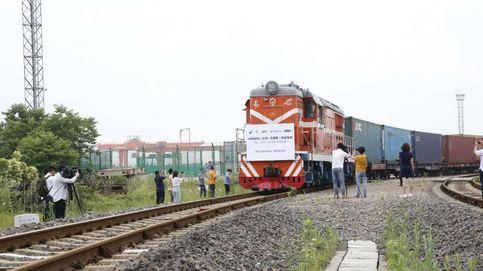 Llega el primer tren de suministros desde China con 28 millones de mascarillas