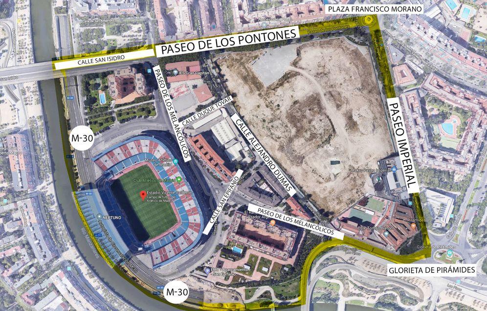 Foto: Mapa del ámbito Mahou-Calderón. (EC)