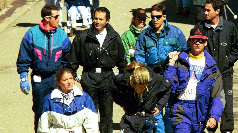 El príncipe Felipe con los hermanos Fuster en Veil en 1997 (I.C.)
