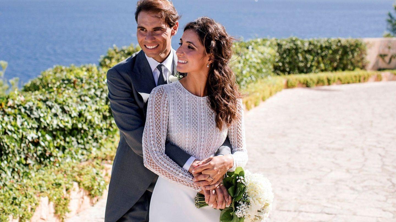 Rafa Nadal y Xisca Perelló, en su enlace mallorquín. (EFE)