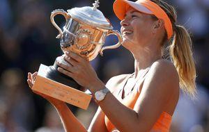 Sharapova logra el título en Roland Garros ante Halep en una loca final