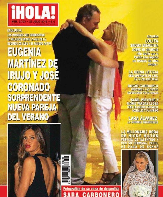 Foto: Portada de la revista '¡Hola!' con Coronado y Eugenia Martínez de Irujo