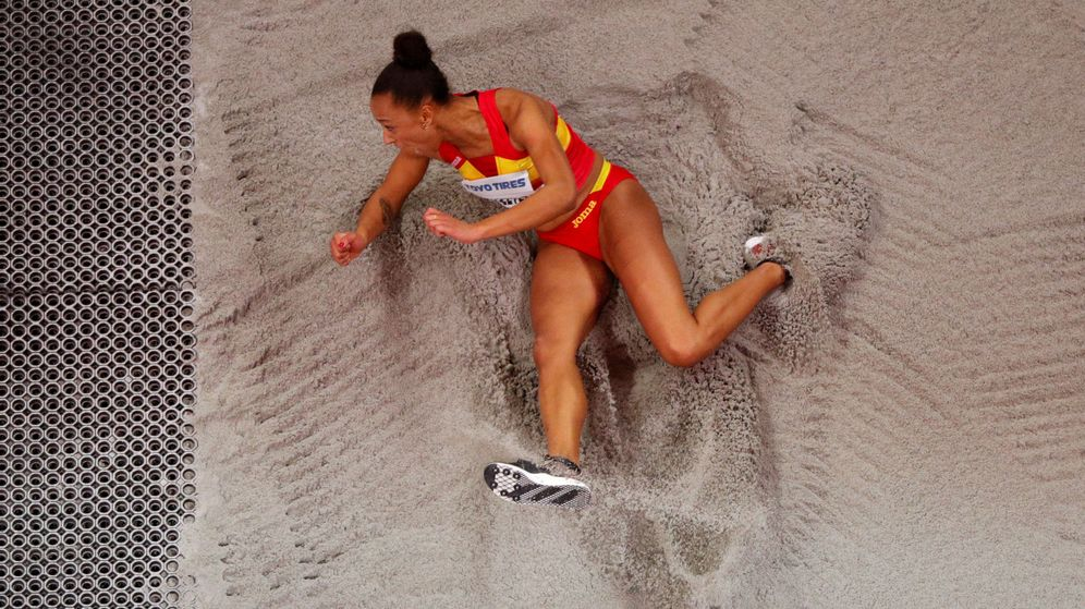 Foto: Ana Peleteiro, en el Mundial de Birmingham.