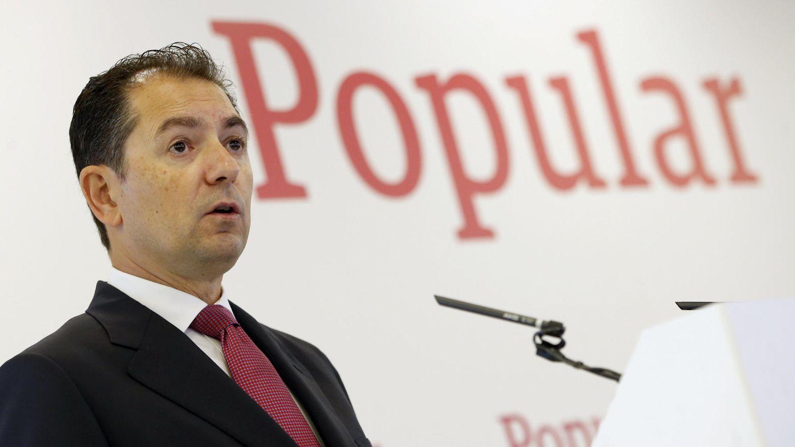 Foto:  El consejero delegado del Banco Popular, Francisco Gómez