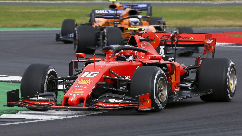 Charles Leclerc durante el Gran Premio de Gran Bretaña. (EFE)