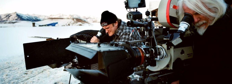 Foto: Quentin Tarantino durante el rodaje de 'Los Ocho Odiosos'. (The Weinstein Company)