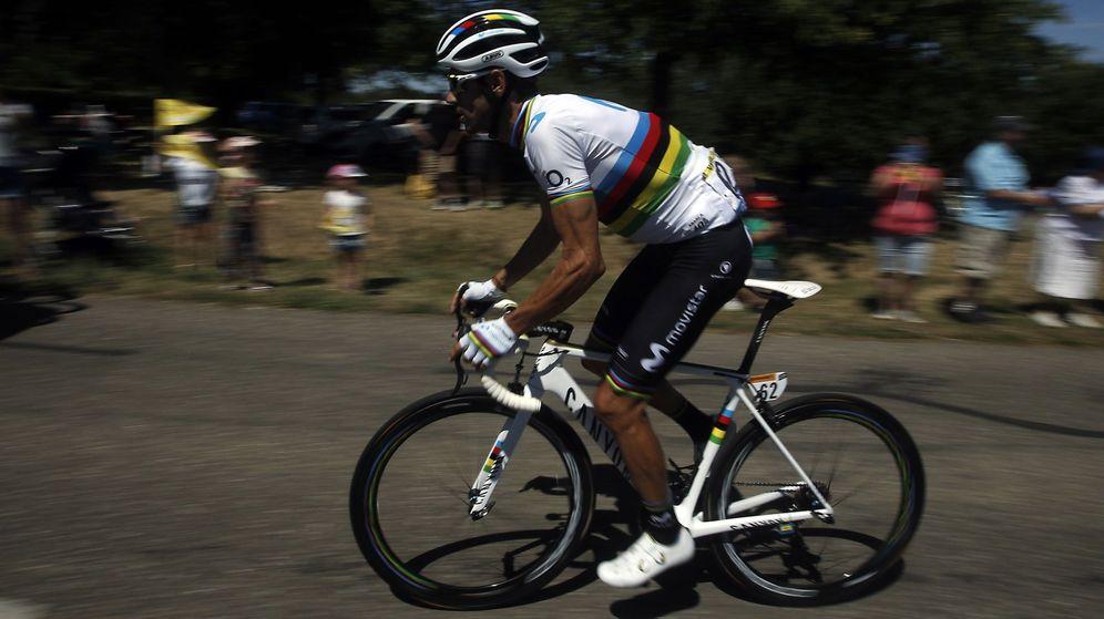 Foto: Alejandro Valverde durante el Tour de Francia 2019. (EFE)