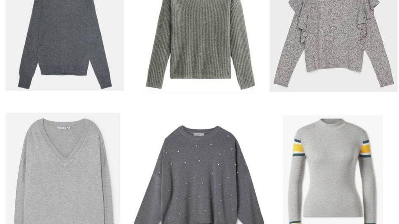 Una ración de jerséis grises para tu colección.