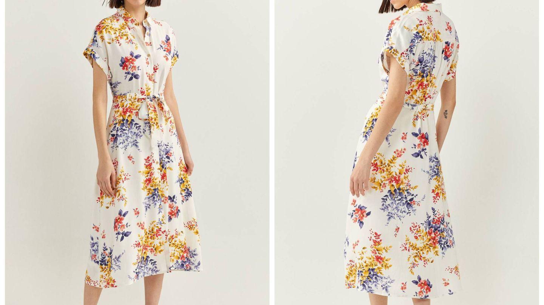Nuevo vestido floral de Springfield. (Cortesía)