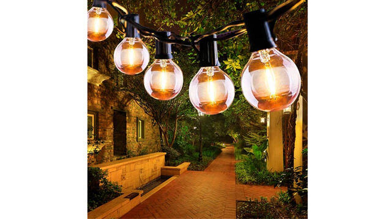 Luces LED Qxmcov tipo guirnaldas para jardín