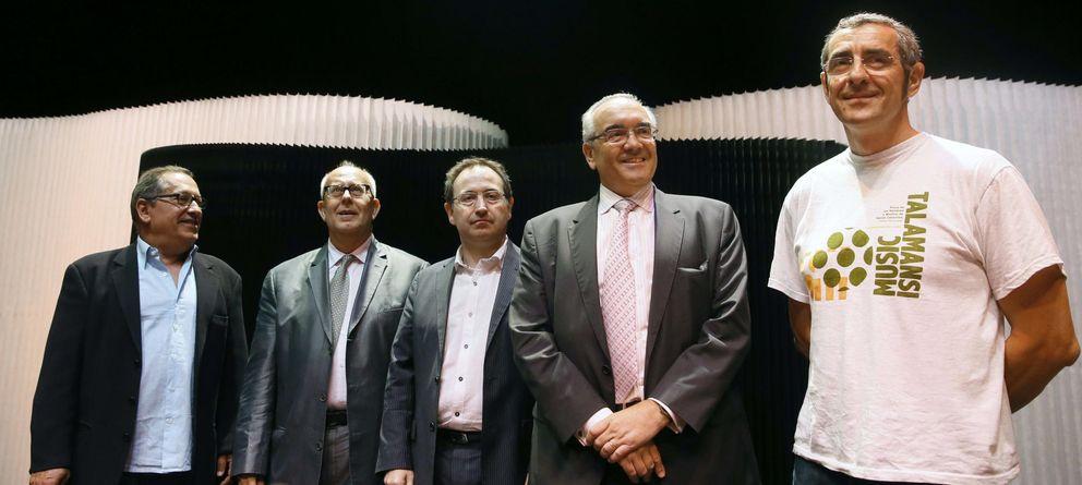 Foto: Representantes de la Unión de Asociaciones Empresariales de la Industria cultural española (EFE)