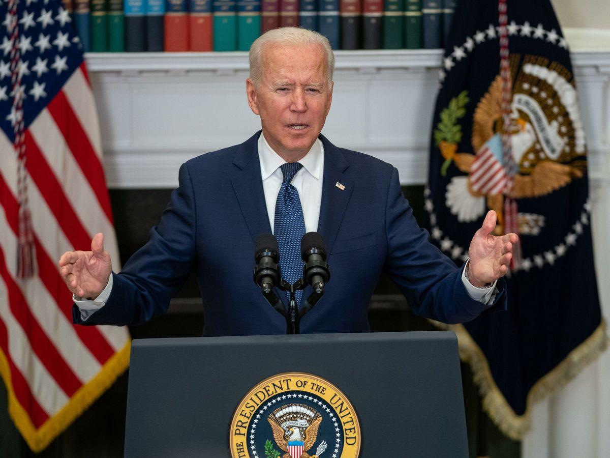 Foto: Joe Biden abrió la puerta a ampliar el periodo para evacuaciones al que se niegan los talibanes. (EFE)
