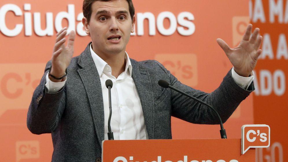 Foto: El líder de Ciudadanos, Albert Rivera, en la sede del partido en Ventas. (EFE)