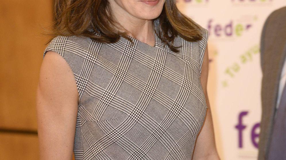 Foto: Doña Letizia a su llegada al acto. (Limited Pictures)
