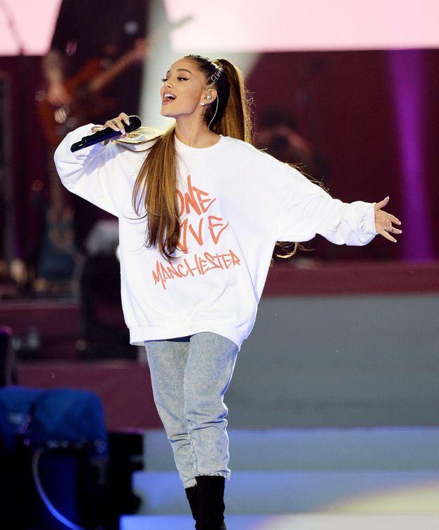 Foto: Ariana Grande, durante el concierto One Love Manchester (Reuters)