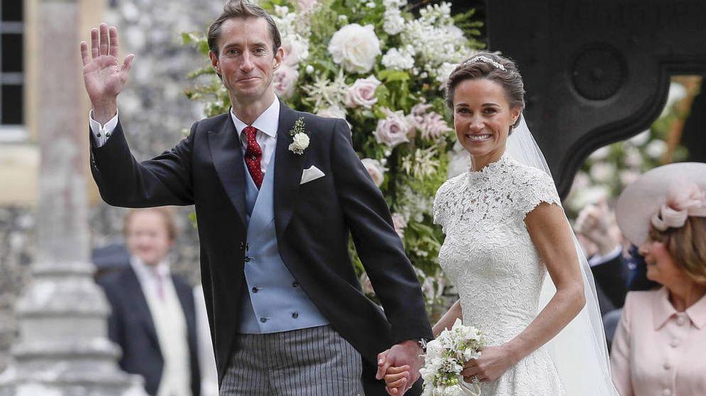 Foto: Pippa y James el día de su boda. (Gtres)
