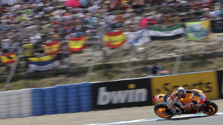 Dani Pedrosa durante el Gran Premio de España de 2013 (Efe).