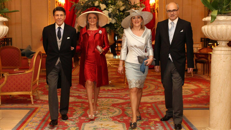 Los cuatro españoles en el enlace real. (Foto: Porcelanosa)