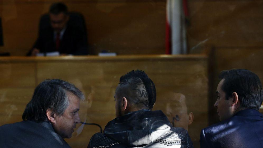 Foto: Arturo Vidal en el juicio de este miércoles.
