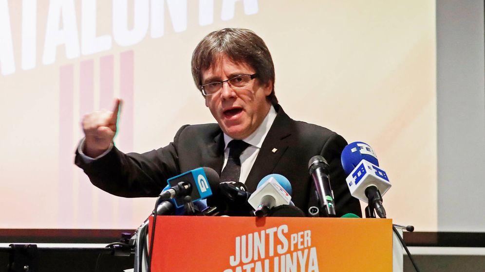 Foto: Carles Puigdemont en un acto en Bruselas. (EFE)