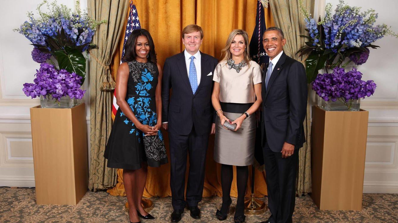Foto: La reina Máxima se queda 'mínima' ante Michelle Obama