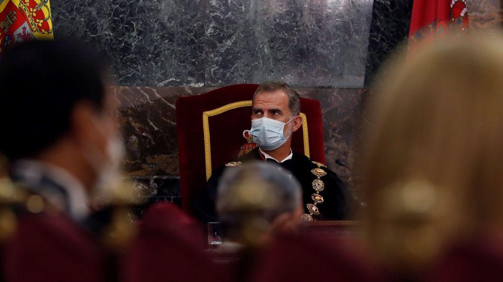 Foto: El rey Felipe VI inaugura el año judicial. (EFE)