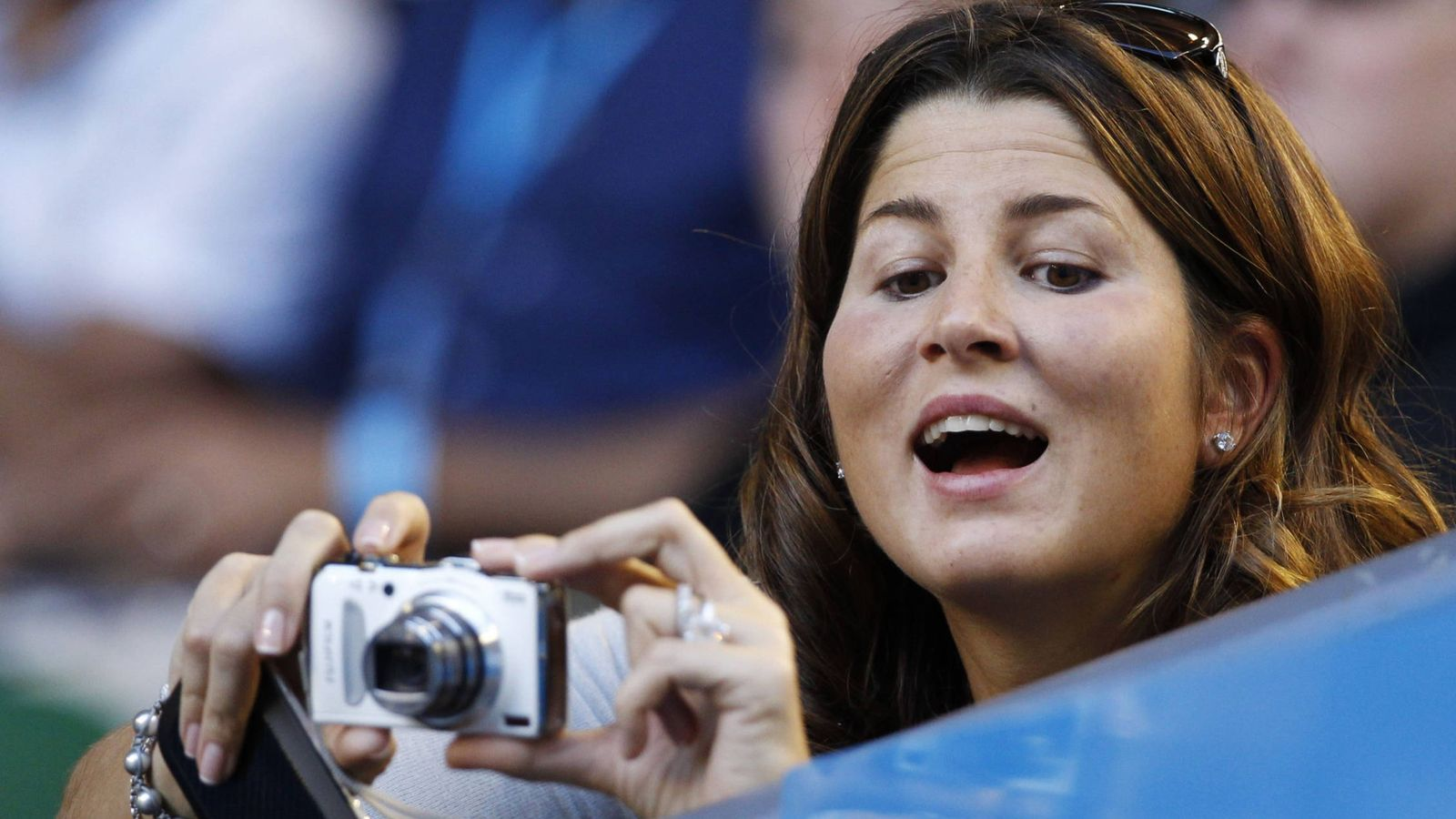 Foto:  Mirka, la mujer de Federer, le sigue por los torneos. (Reuters)