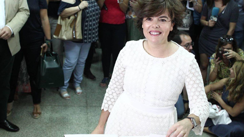 Soraya votando.