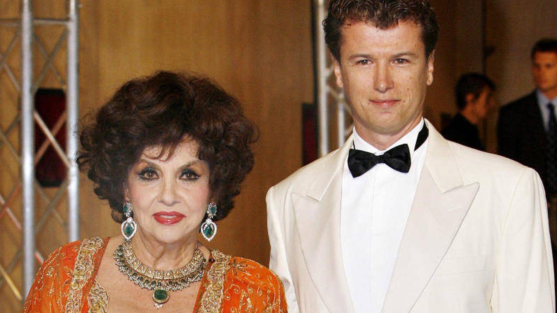 Gina Lollobrigida junto a su marido, Javier Rigau. (Gtres)