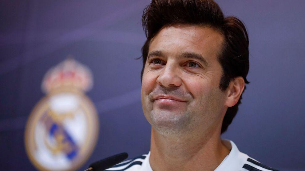 Al parlanchín Solari solo le falta besar el escudo del Real Madrid