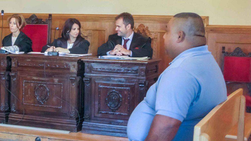 Foto: Cristian Cuero durante el juicio en la Audiencia Provincial de Toledo. (Foto: REVISTA AQUÍ CLM)