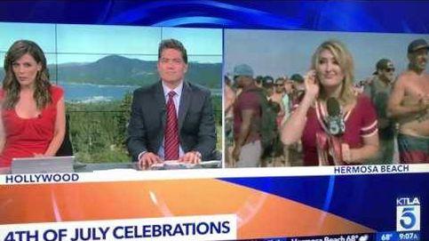 Vomitan a esta reportera de televisión en riguroso directo