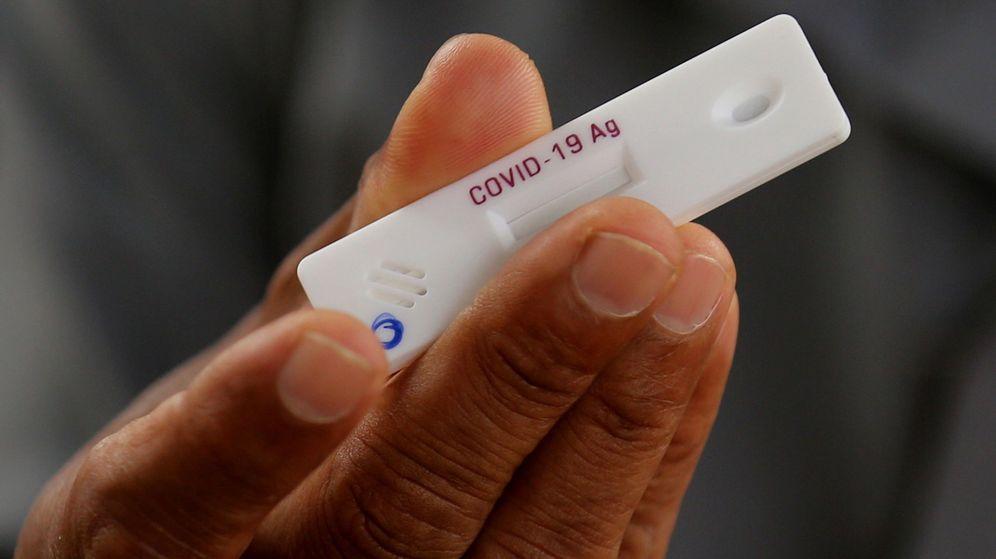 Foto: Test de antígenos. (Foto: Reuters)