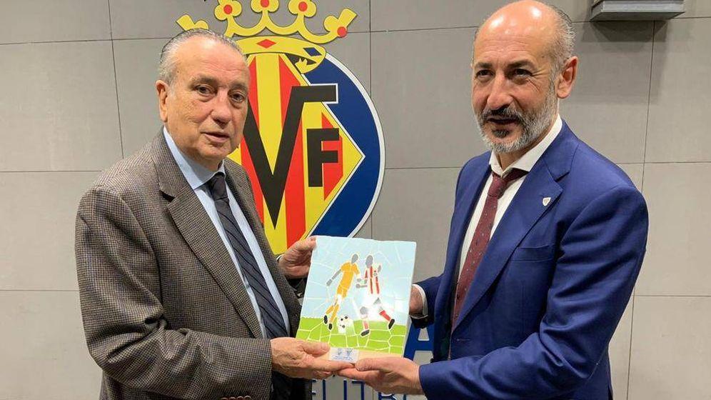 Foto: Fernando Roig, presidente del Villarreal, y Aitor Elizegi, presidente del Athletic. (EFE)