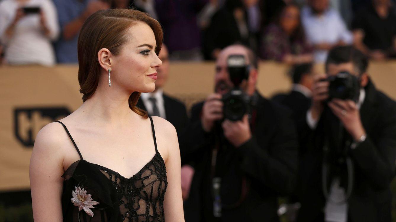 Foto: Emma Stone en los premios del Sindicato de Actores (Reuters)
