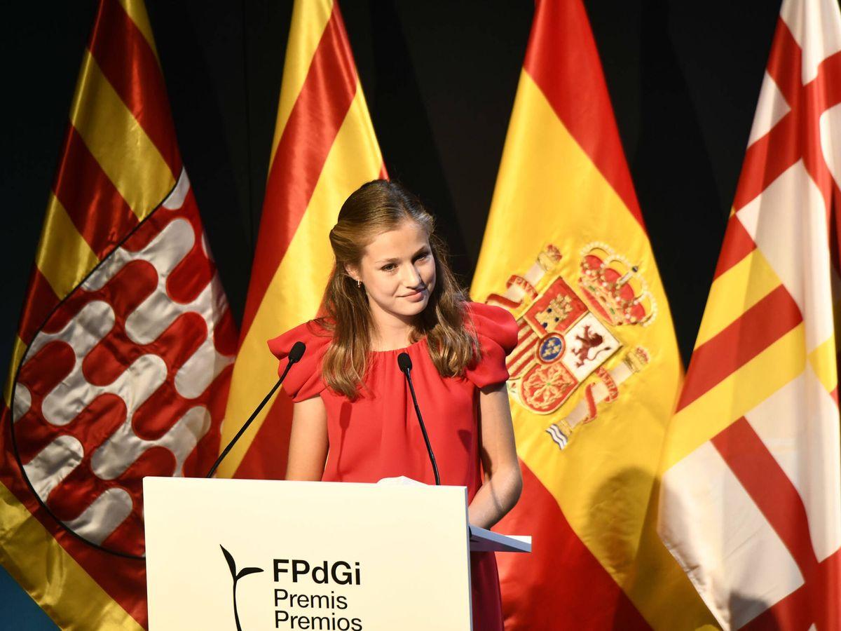 Foto: La princesa Leonor, durante su discurso en los Premios Princesa de Girona. (Limited Pictures)
