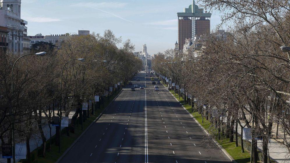 Foto: Paseo de la Castellana de Madrid. (EFE)