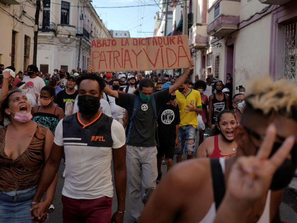 Foto: Protestas en La Habana. (Reuters)