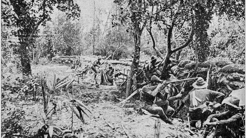 Foto: Trincheras de EEUU en la guerra de Filipinas. (iStock)