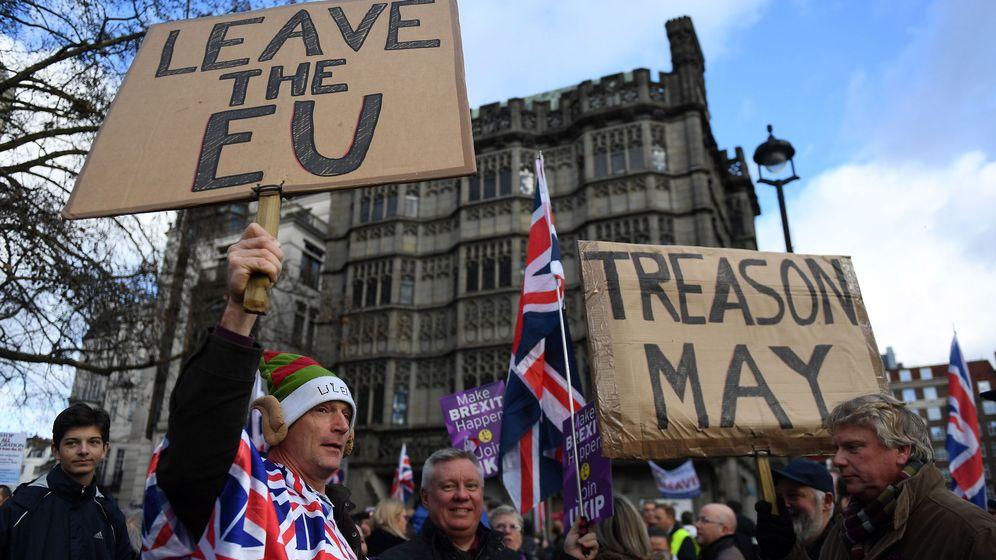 Foto: Marcha probrexit del UKIP en Londres. (EFE)