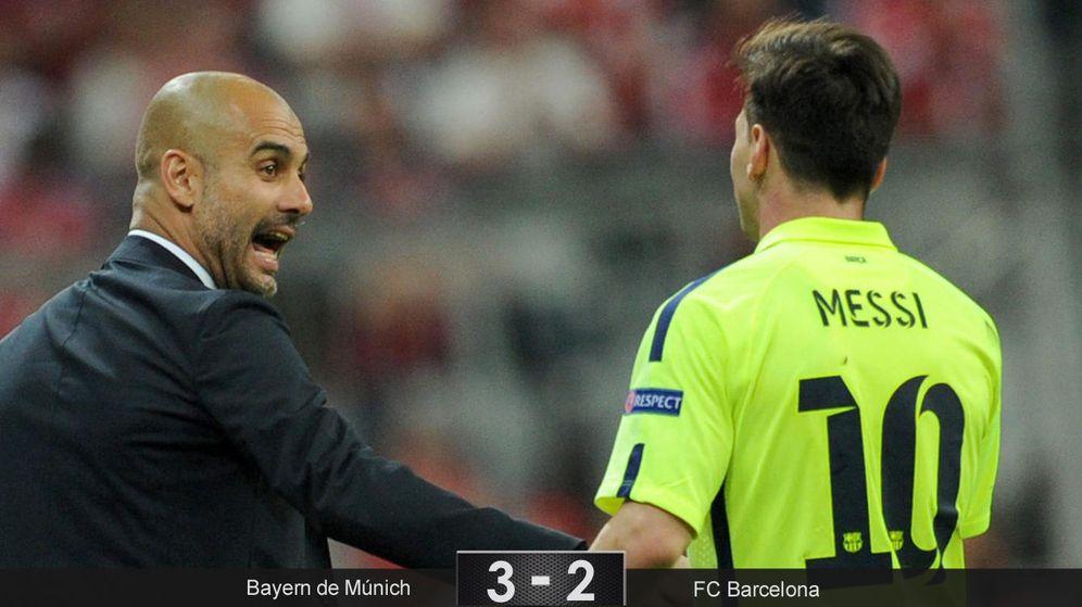 Foto: El Bayern de Pep gana en Múnich, pero será el Barça de Messi el que esté en Berlín