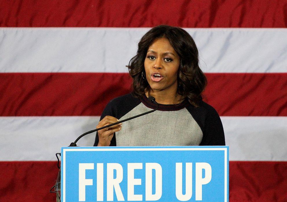 Foto: La primera dama de Estados UNidos en una convención del Partido Demócrata en noviembre (Gtres)