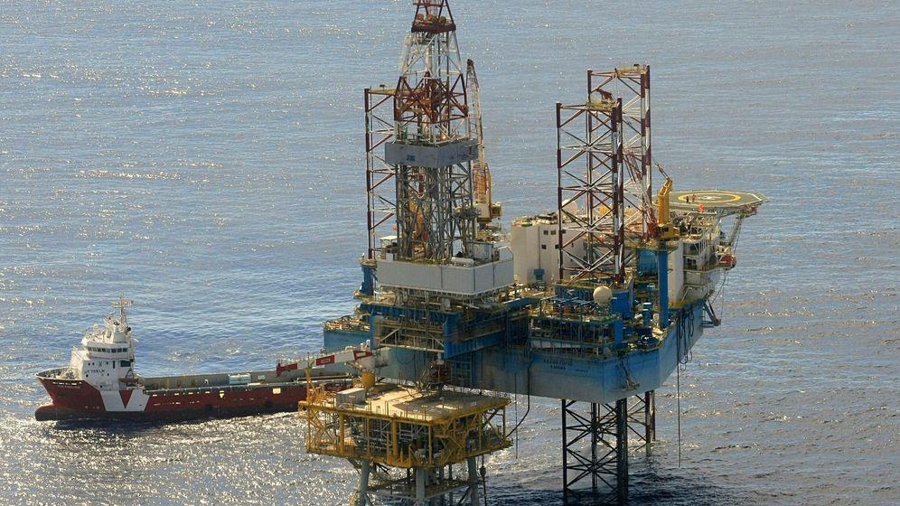 Foto: Plataforma de almacén de gas del proyecto Castor